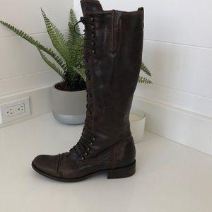 Charles David lace up granny boot